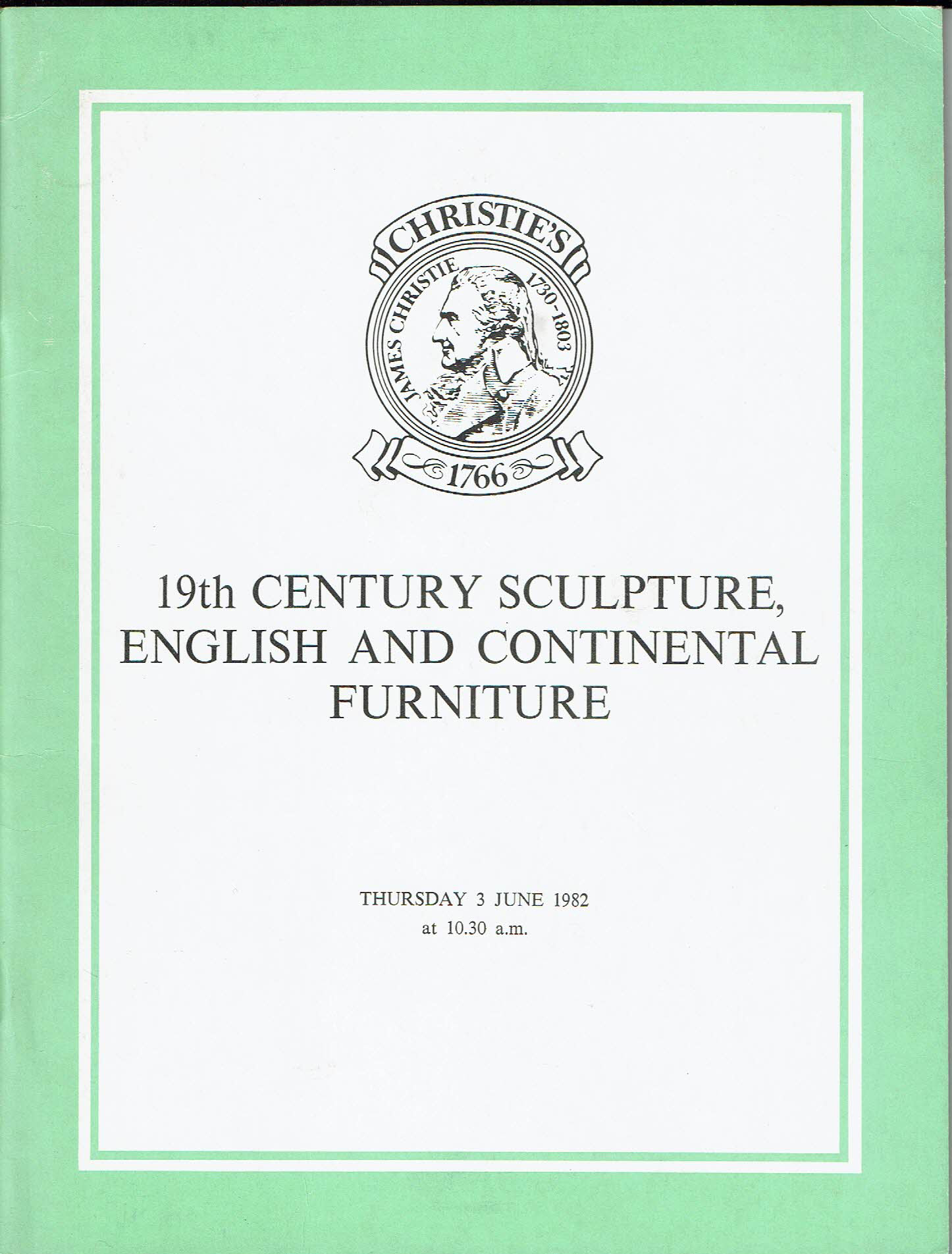Christies 19the Century sculpture, English and Continental furniture